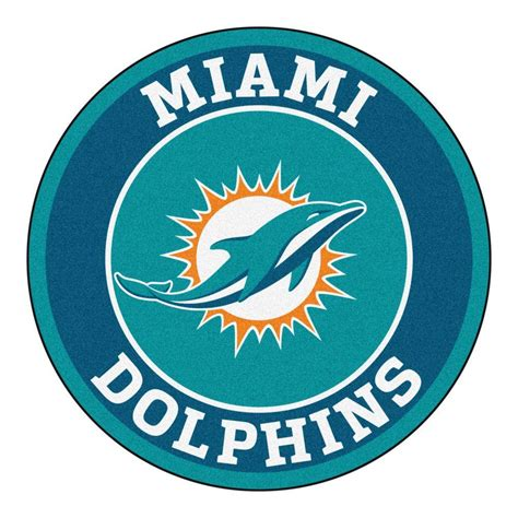 miami dolphins rug fanmats nfl miami dolphins turquoise 2 ft 3 in x 2 ft 3