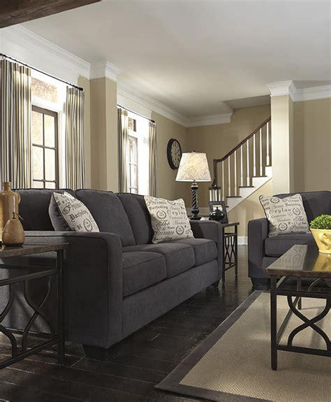 alenya charcoal sofa  signature design marjen