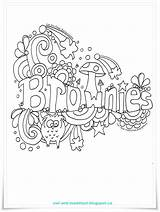 Brownie Brownies Guides Activities Scouts Scout Promise Meeting Doodle Guide Owl Crafts Printables Coloring Quest Troop Activity Songs Toadstool Leader sketch template