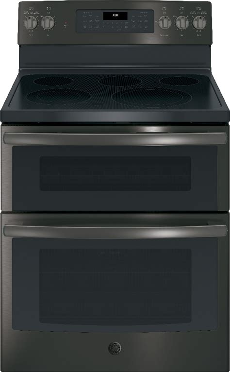 ge jbbjts  freestanding electric double oven convection range black ss