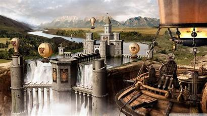 Medieval Wallpapers 4k Steampunk Fantasy Castle Background