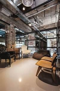 Industrial, Office, Features, Exposed, Bricks, U0026, Concrete, Ceilings