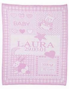 Babydecke Mit Namen Bestickt : babydecke mit namen und geburtsdatum ikast etikett ~ Watch28wear.com Haus und Dekorationen