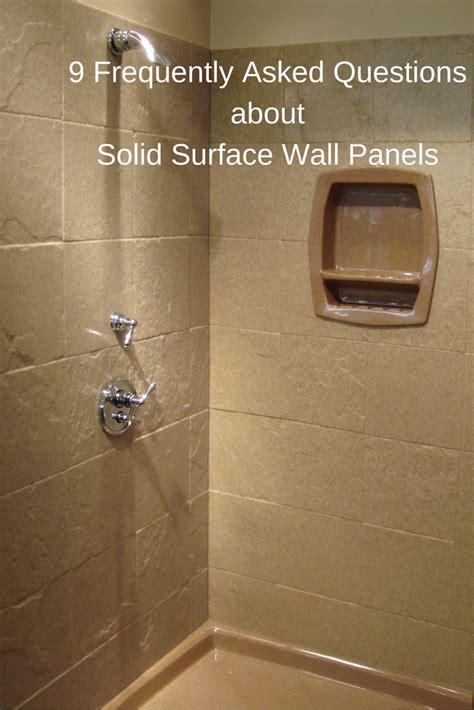 solid surface shower walls images  pinterest