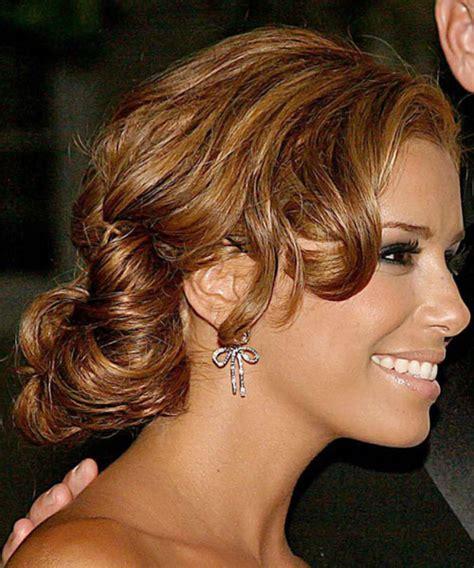 eva longoria parker long curly light auburn brunette updo