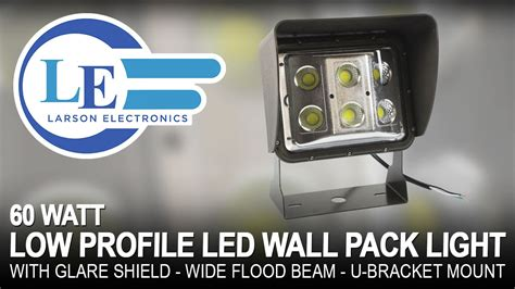 60 watt low profile led wall pack light with glare shield