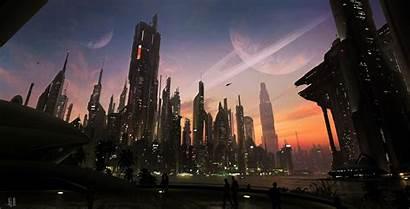 Wallpapers Concept Futuristic Digital Cityscape Future Urban