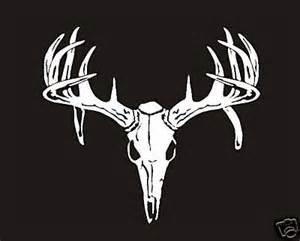 StickerChic : Deer Buck Drop Tine Skull Decal Sticker Bow ...