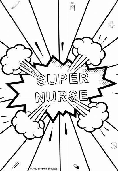 Nhs Colouring Sheets Nurses Doctors Coloring Thank