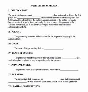 11 sample business partnership agreement templates to for Corporate partnership agreement template