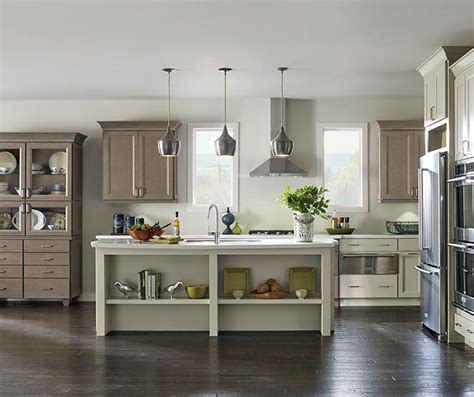 grey maple kitchen cabinets oven cabinet kemper cabinetry 4083