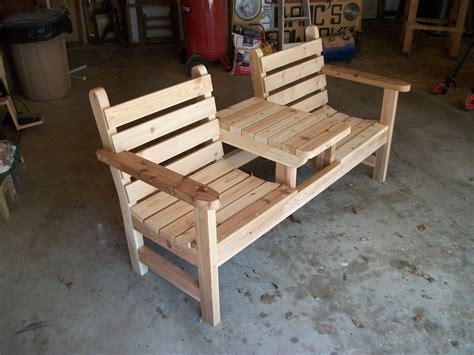 cedar  seater bench crafts   kinds
