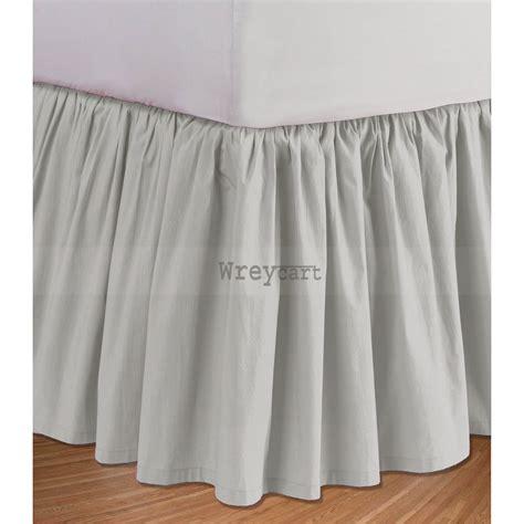 Silver Grey Bed Skirt Ruffle Valance 1000tc Egyptian