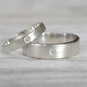 matching diamond silver wedding rings by lilia nash With diamond silver wedding rings