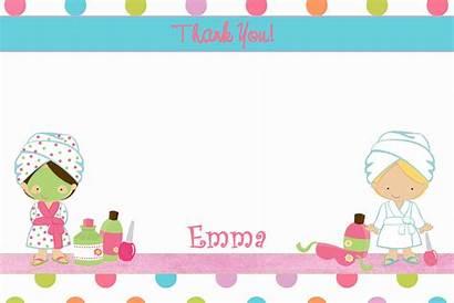 Spa Party Clipart Salon Clip Birthday Thank