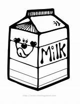 Milk Carton Clipart Clip Dairy Glass Cliparts Colouring Cartoon Cheese Yogurt Hair Lactose Library Printable Coloring Pages Macaroni Salon Box sketch template