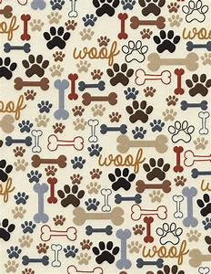 Timeless Treasures | Dog Bones & Paw Prints