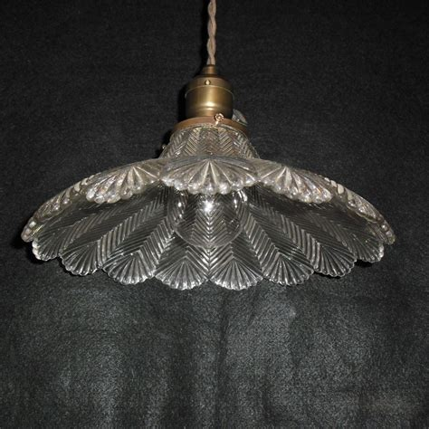 holophane pendant light fixture zipper glass shade sold