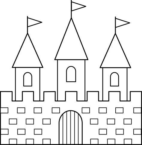 colorable castle  art  clip art