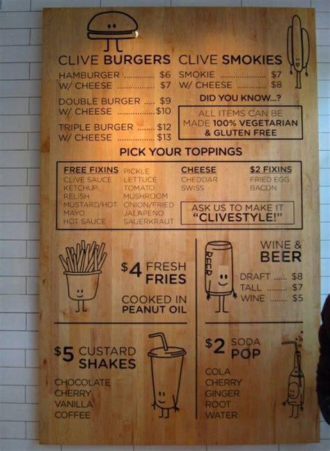 alternative menu board menu card design menu restaurant