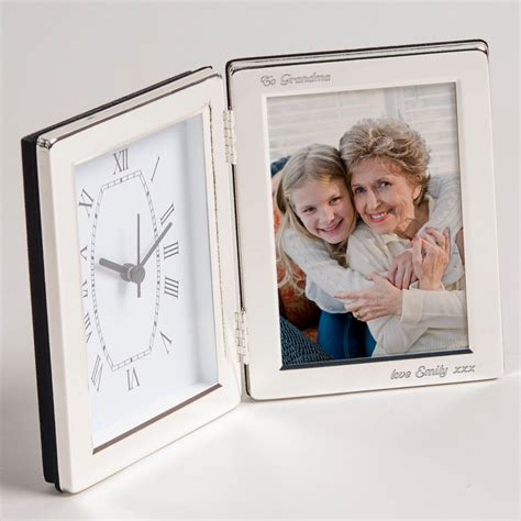 engraved clock photo frame engraved gifts