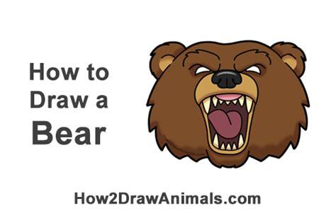 draw  bear head cartoon video step  step