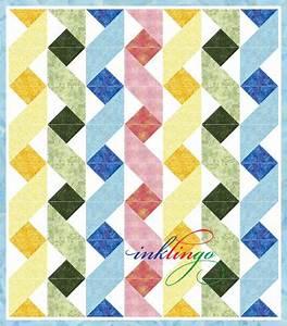 Twisting Ribbons Inklingo Ribbon Baby Quilt Quilt Blocks