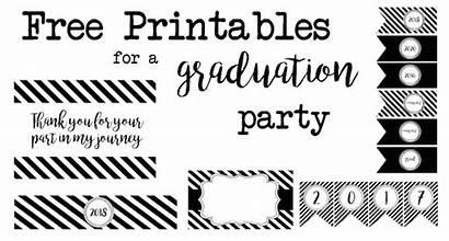Graduation Party Printables Printable Banner Labels Paper