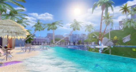 tropical beach  lily sims sims  updates