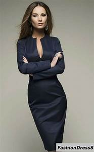 25 best ideas about dark blue dresses on pinterest blue for Robe longueur genou