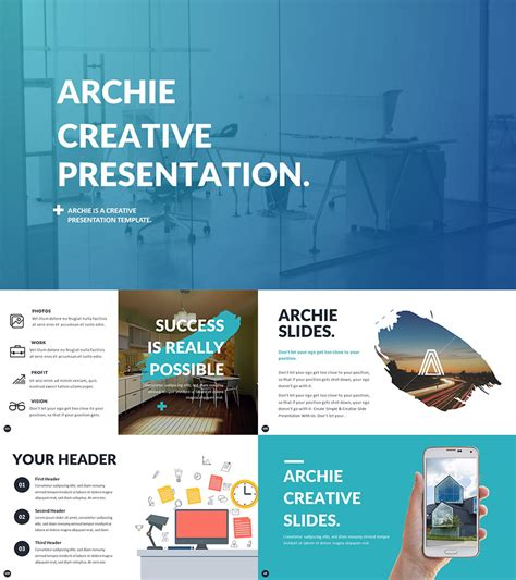 creative powerpoint templates presenting