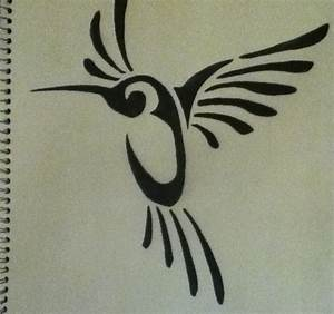 Tribal Hummingbird by happyaly15 on DeviantArt