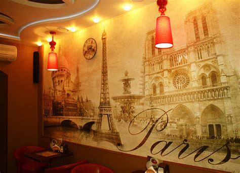 sticker mural paris vintage classic gold autumn wallpaper