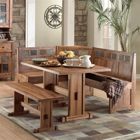 nook table rustic small breakfast nook table set and chairs with