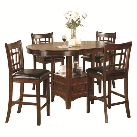 5 Piece Bar Height Patio Set home source 5pc pub dining set by oj commerce