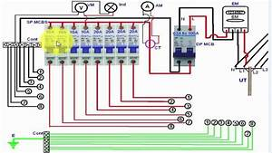 Single Phase Distribution Board Wiring Diagram  English