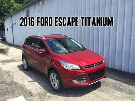 ford escape titanium review youtube