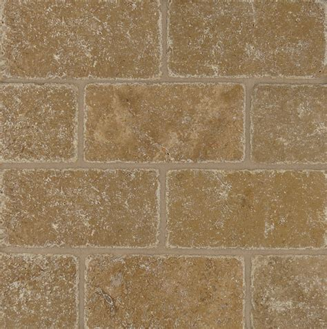 noce tumbled travertine travertine noce tumbled 3x6 subway tile