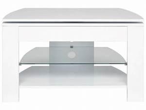 Meuble Tv D Angle Conforama : meuble tv passo 4 coloris blanc vente de meuble tv ~ Dailycaller-alerts.com Idées de Décoration