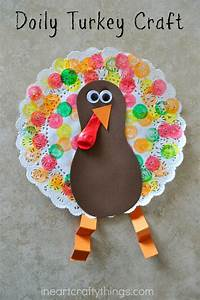 Doily Turkey Craft for Kids | I Heart Crafty Things