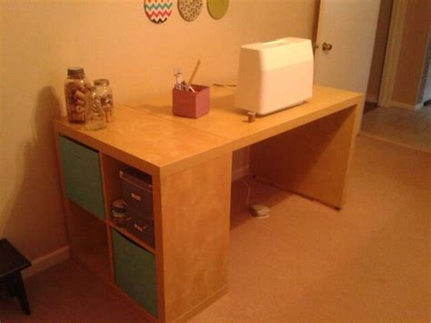 expedit bureau ikea hack expedit 2x2 and expedit desk birch finish