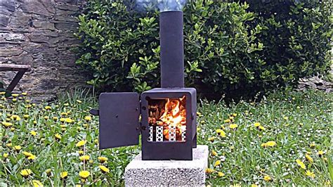 Rocket Stove mini wood burner   YouTube