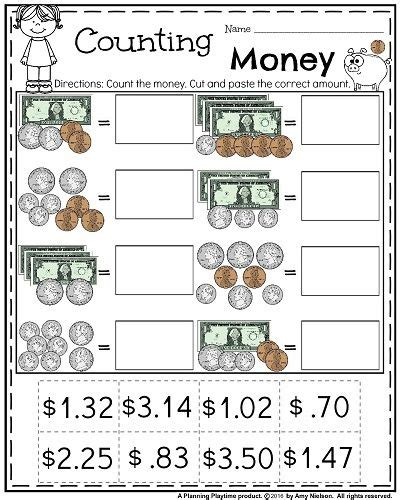 money worksheets for 2nd grade teachers pay teachers