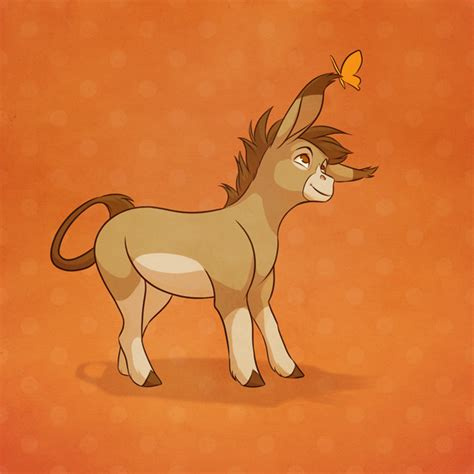 cute donkey drawing