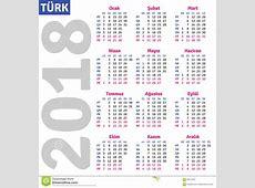 Turkish calendar 2018 stock vector Illustration of month