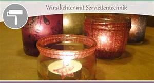 Windlichter Basteln Weihnachten : serviettentechnik auf glas windlichter selbst gestalten wohncore ~ Yasmunasinghe.com Haus und Dekorationen