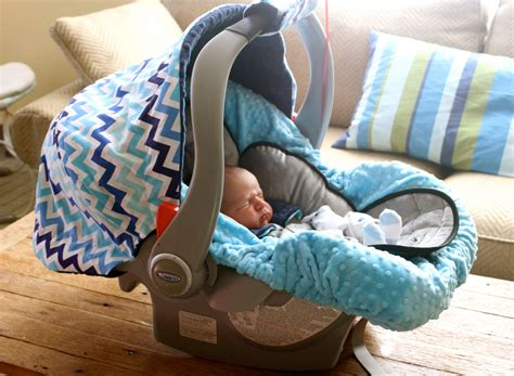 Infant Car Seat Cover Baby Car Seat Cover In Surf Blue And