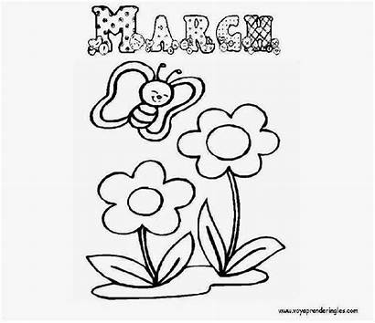 March Pages Coloring Month Printable Cartoon Colouring
