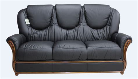 Leather Settees For Sale Uk by Juliet Genuine Italian Leather 3 Seater Sofa Settee Black