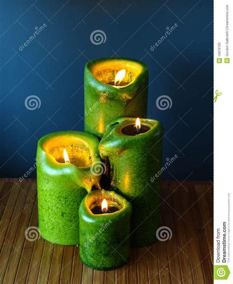 stock candele candele verdi fotografia stock immagine di aromatherapy